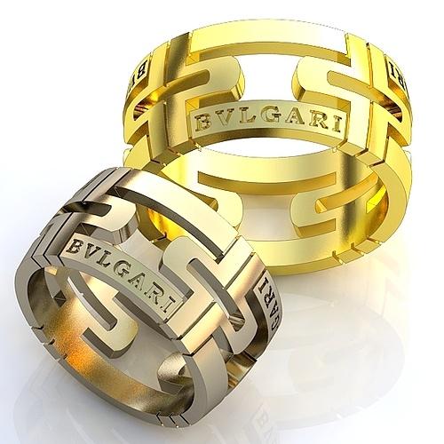 04057004677c Эксклюзивные обручальные кольца Bvlgari 585 пр. двухсплавные без камней. Вес  от 6 г.