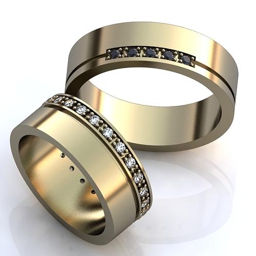 47750d734e8a Эксклюзивные односплавные обручальные кольца из белого золота с  драгоценными камнями. Вес от 6 г.