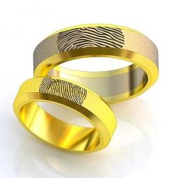 9e82aaf55ea7 Эксклюзивные двухсплавные обручальные кольца в стиле хай - тек с  отпечатками пальцев. Вес от 6