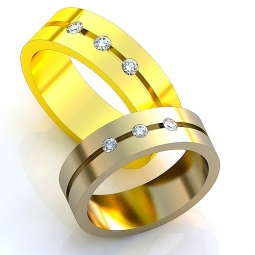 3c14313dfa9d Эксклюзивные двухсплавные обручальные кольца в стиле модерн с драгоценными  камнями. Вес от 6 г.