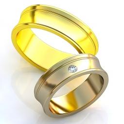 939b7f3d9098 Эксклюзивные двухсплавные обручальные кольца в стиле хай - тек с  драгоценными камнями. Вес от 6 г.